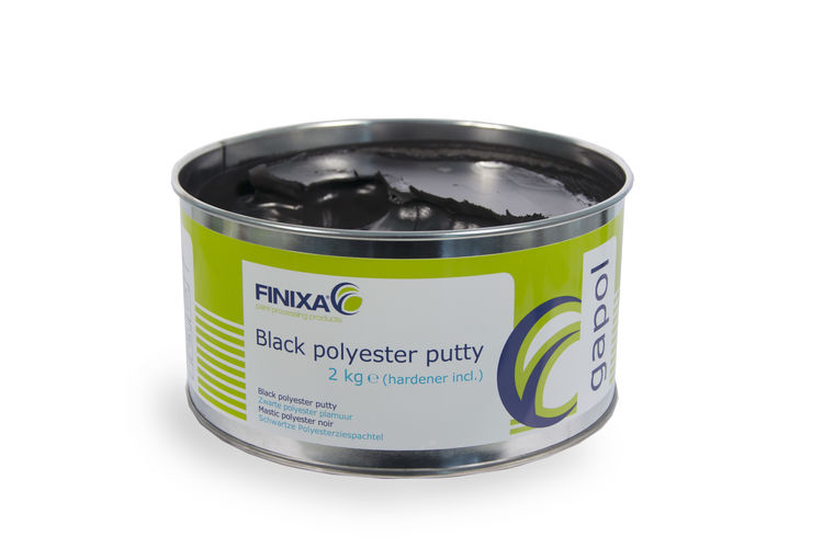Black polyester putty GAPOL