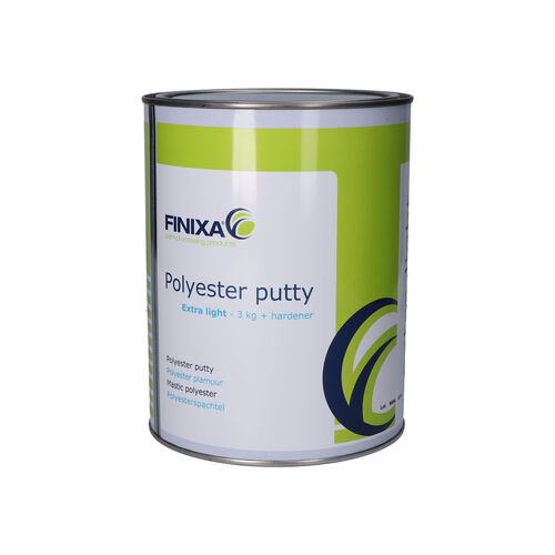 Finixa polyester putty 3kg + hardener - extra light